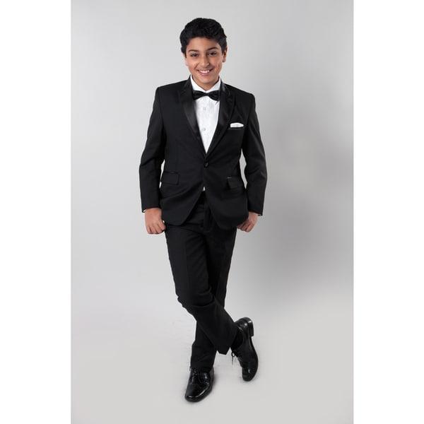Tazio Boys' Black 4-piece Suit