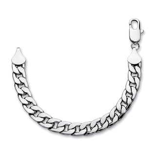 Silvertone Men's 15mm Curb Link Bracelet