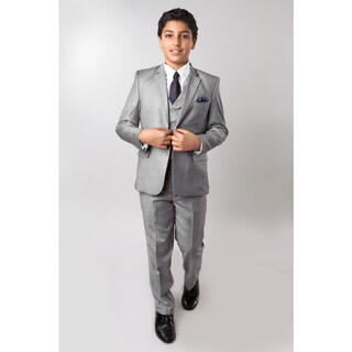 Tazio Boys' Grey 5-piece Suit