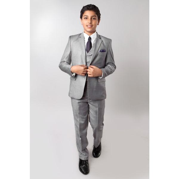 Tazio Boys' Grey 5-piece Suit