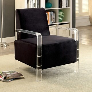 Furniture of America Fall Contemporary Flannelette Padded Accent Chair