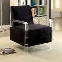 Furniture of America Galesha Contemporary Flannelette Accent Chair