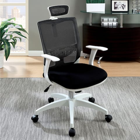 Furniture of America Tals Contemporary Metal Adjustable Office Chair