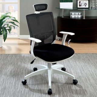 Furniture of America Saralin Contemporary Two-tone Mesh Adjustable Office Chair
