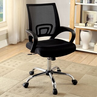 Furniture of America Clarence Contemporary Mesh Adjustable Black Office Chair