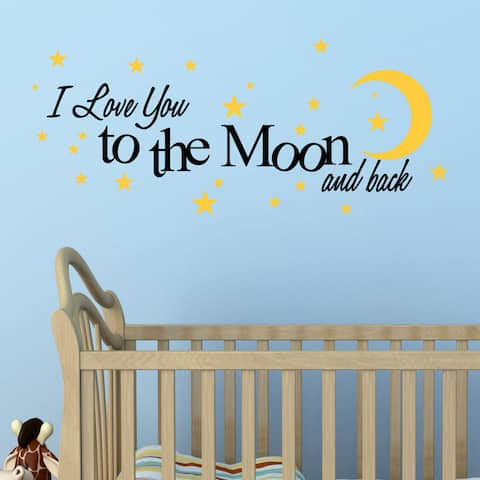 I Love You to The Moon and Back' Vinyl Wall Quote Decal