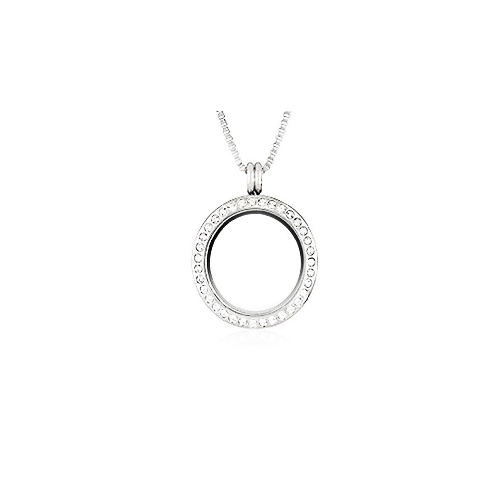 Node Silver Plated 30 mm Magnetic Locket Pendant Necklace...