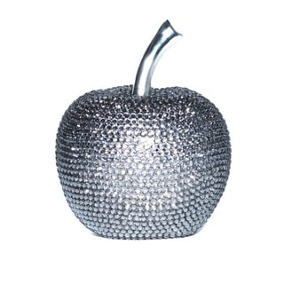 Interior Illusions Plus Graphite Rhinestone Apple Decoration