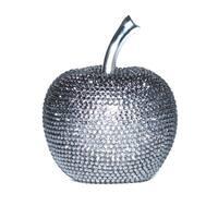 Interior Illusions Graphite Rhinestone Apple Decoration