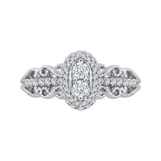 14k White Gold 1ct TDW Two-Stone Diamond Fashion Ring (G-H, I2-I3)