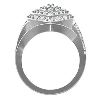 10KT White Gold 2CTtw Diamond Fashion Ring
