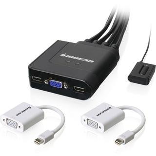 IOGEAR 2-Port USB VGA Cable KVM with Mini DisplayPort Adapters - Thumbnail 0