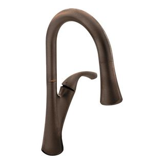 Moen Notch Oil-rubbed Bronze Pullout Spray Single-hole Kitchen Faucet