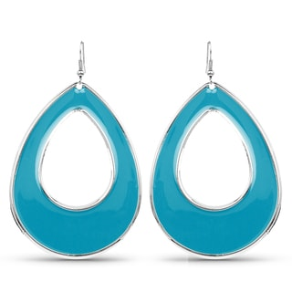 Liliana Bella Blue Fashion Hoop Dangle Earrings