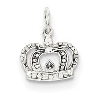 Sterling Silver Crown Charm by Versil with 18 Inch Chain