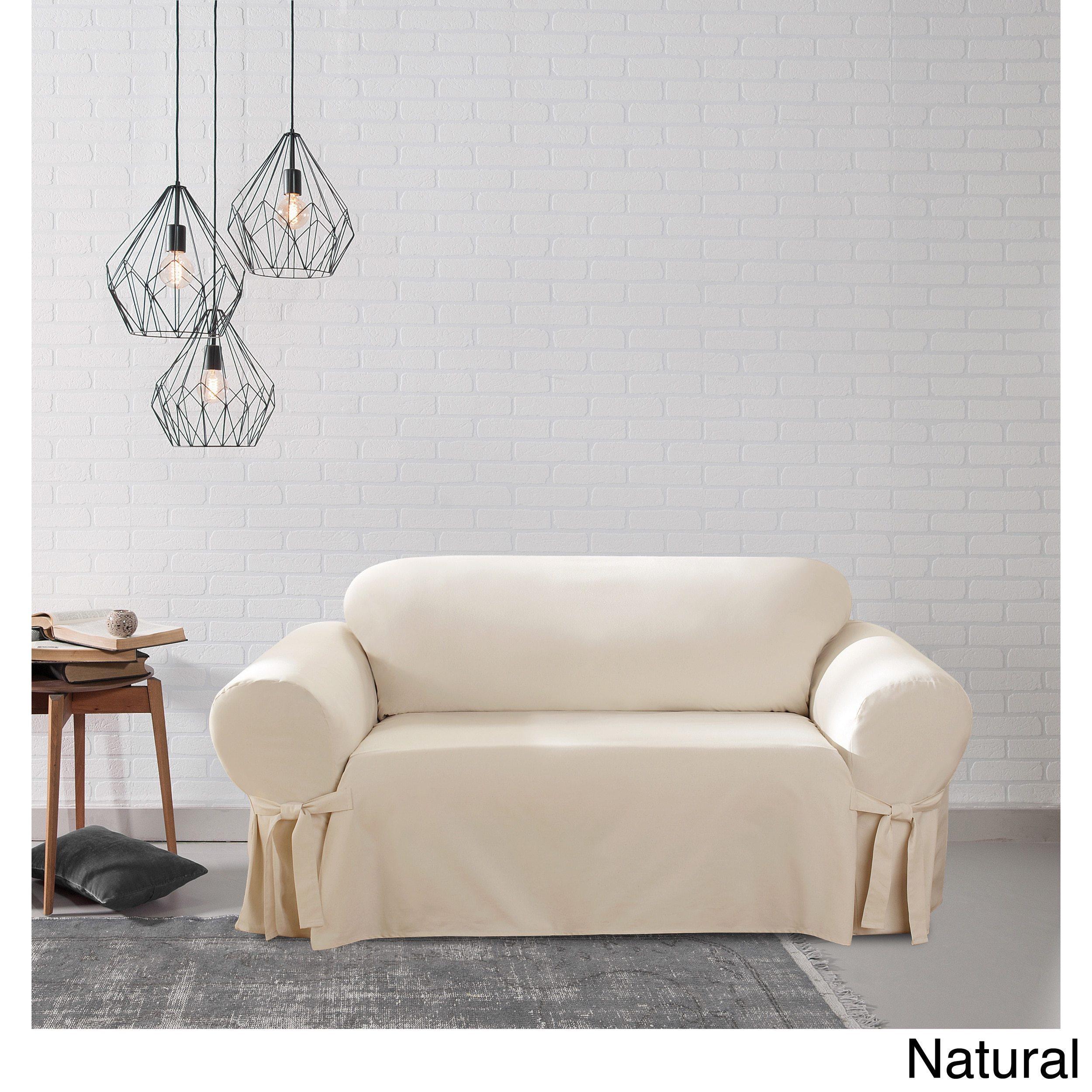 Phenomenal Sure Fit Cotton Duck Washable Loveseat Slipcover Interior Design Ideas Grebswwsoteloinfo