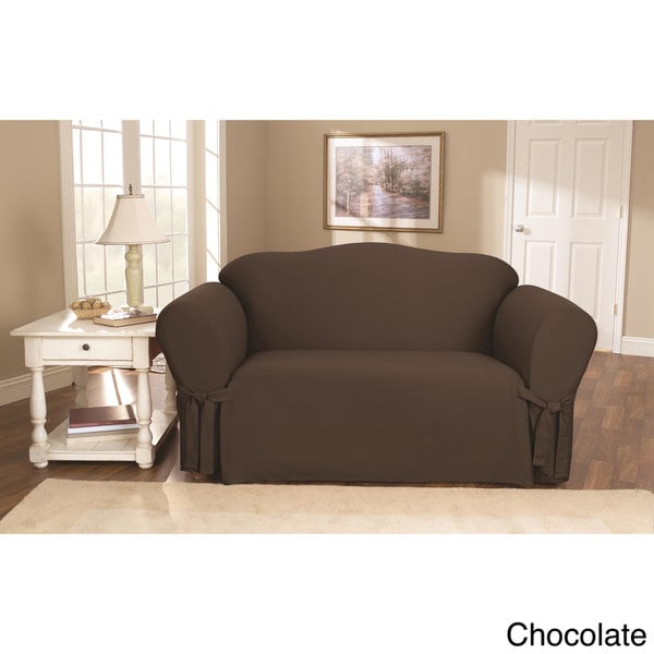 sure fit cotton duck washable loveseat slipcover free shipping today