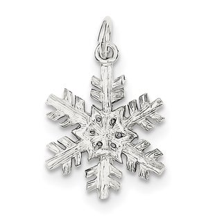 Sterling Silver Snowflake Pendant by Versil with 18 Inch Chain