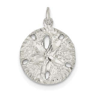 Sterling Silver Sand Dollar Charm by Versil with 18 Inch Chain