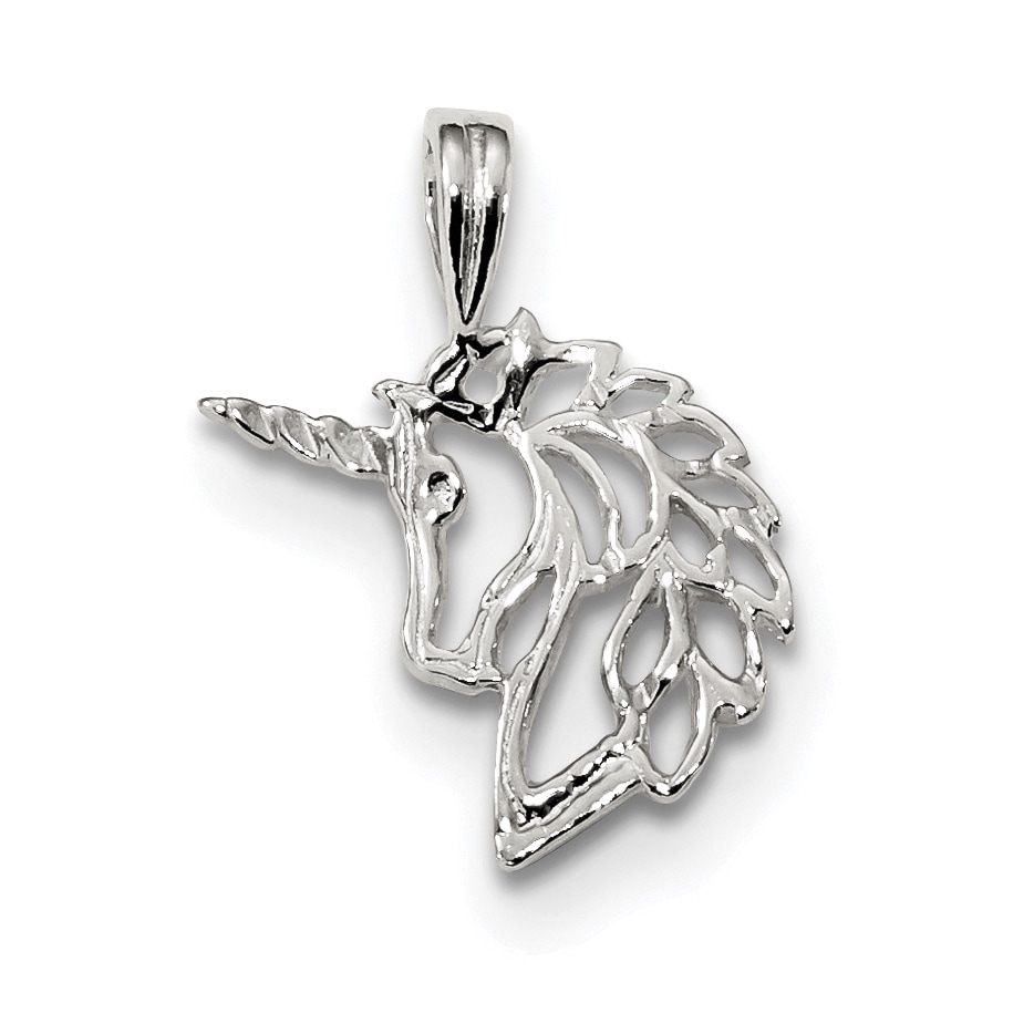 Sterling Silver Unicorn Charm by Versil with 18-Inch Chai...