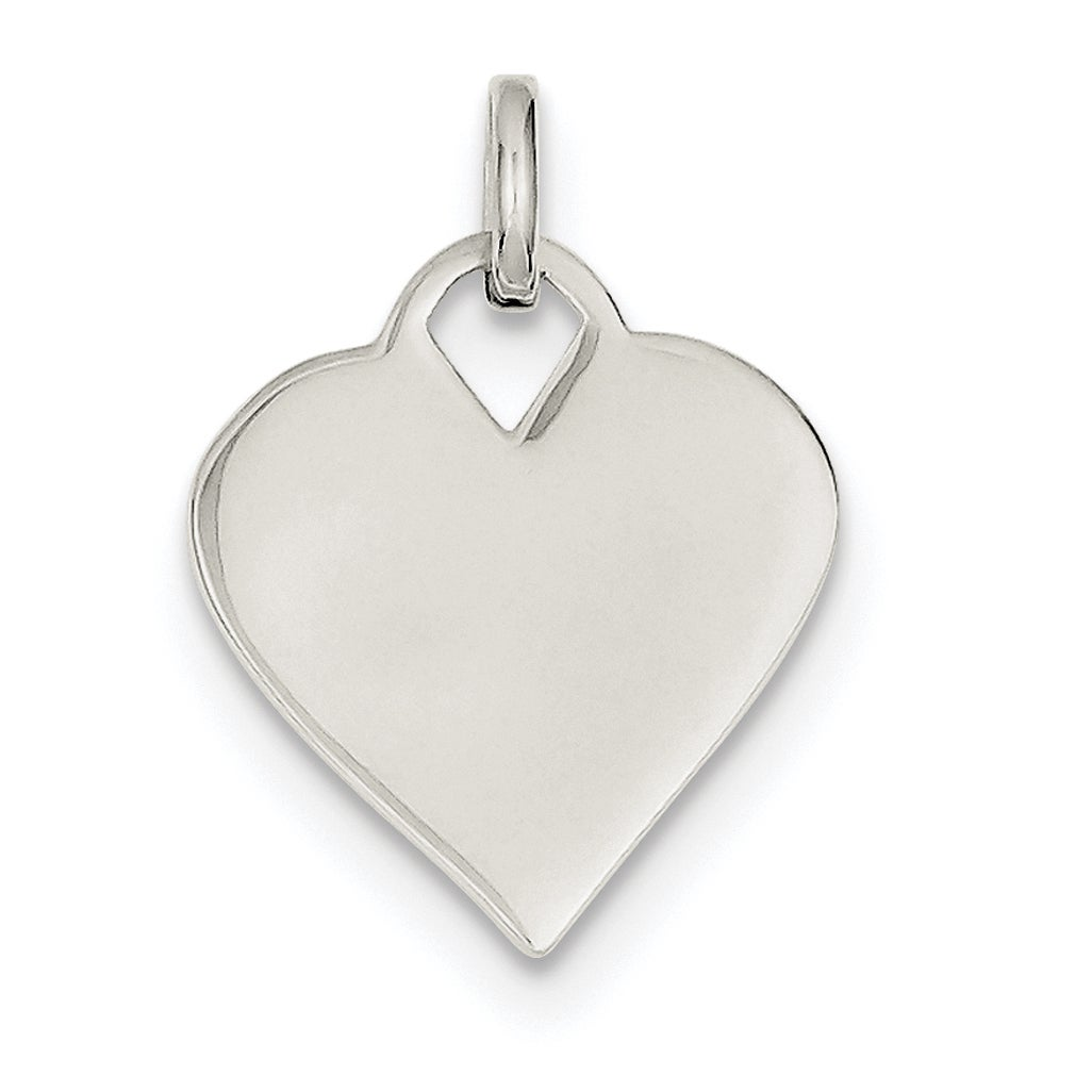 Sterling Silver Polished Heart Charm by Versil with 18 In...