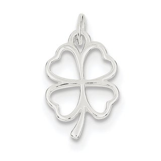 Sterling Silver Four Leaf Clover Charm by Versil with 18-Inch Chain