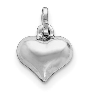 Sterling Silver Puffed Heart Charm By Versil With 18 Inch Chain