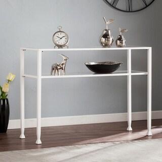 Harper Blvd Jensen Metal/Glass Console Table - White