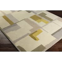 Strick & Bolton Sherrill Hand-Tufted Abstract Wool Area Rug - 5' x 7'6
