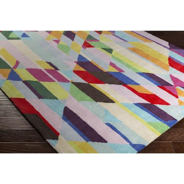 "Porch & Den Sherman Hand-tufted Wool Multicolor Area Rug - 5' x 7'6"""