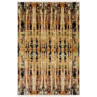 Hand-Knotted Abu Silk Rug (6' x 9')