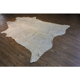 Extra Large 100-percent Premium Hair-on Cowhide Silver Metallic on White Rug (7' x 9')|https://ak1.ostkcdn.com/images/products/14689899/P21222780.jpg?impolicy=medium