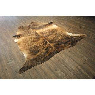 Large Exotic Beige 100-percent Premium Hair-on Cowhide Rug - 6' x 8'