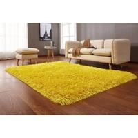 Crystal Yellow Shag Area Rug - 5' x 7'