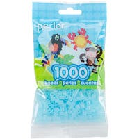 Perler Beads 1,000/Pkg-Clear Blue