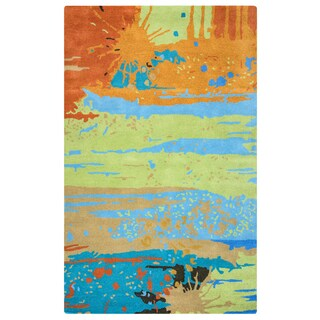 Hand-tufted Volare Wool Graphic Runner Rug (2'6 x 8')