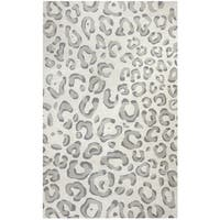 Hand-tufted Liberty Grey Wool Animal/ Cheetah Runner Area Rug (2'6 x 8') - 2'6 x 8'