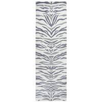 Hand-tufted Valintino Light Grey Wool Animal Runner Area Rug - 2'6 x 8'