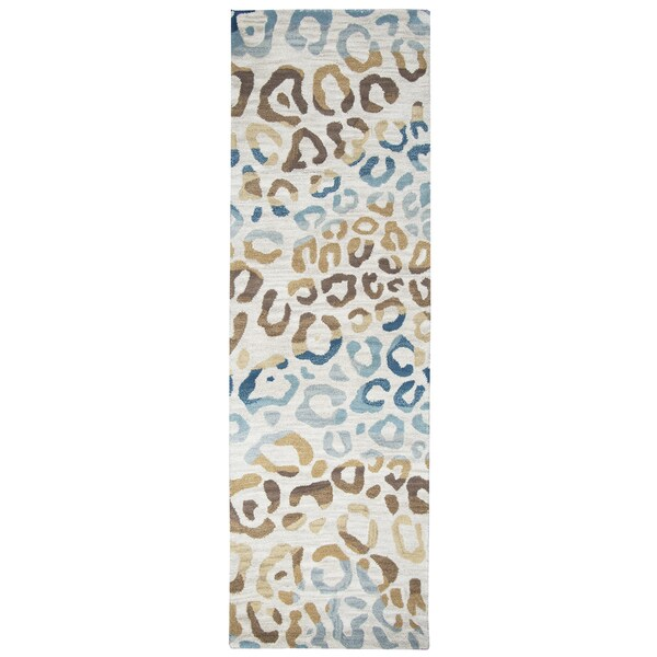 Hand-tufted Valintino Wool Animal Runner Rug (2'6 x 8')