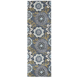 Hand-tufted Valintino Wool Floral Runner Area Rug (2'6 x 8')