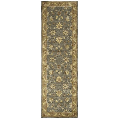 Liberty Collection Dark Tan Border Rug