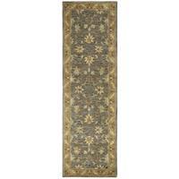 Hand-tufted Valintino Wool Border Runner Area Rug (2'6 x 8')