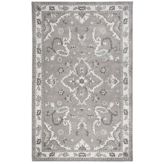 "Hand-tufted Liberty Grey Wool Ornamental Runner Area Rug (2'6 x 8') - 2'6"" x 8'"