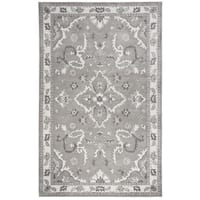 "Hand-tufted Valintino Grey Wool Ornamental Runner Area Rug (2'6 x 8') - 2'6"" x 8'"