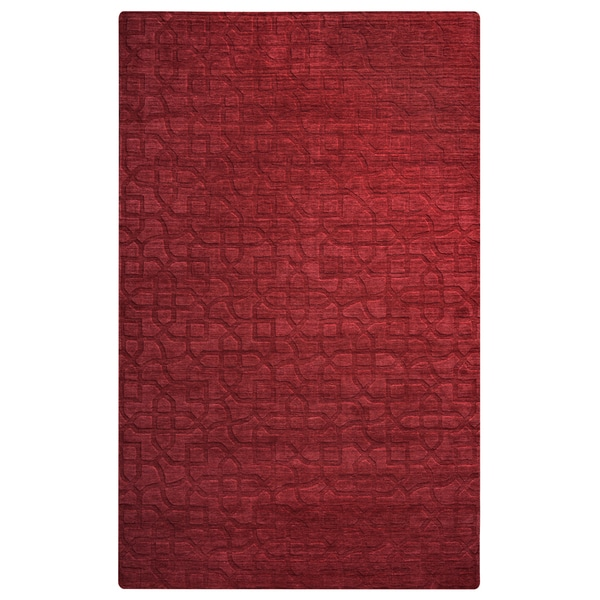 Hand-Loomed Uptown Red Wool Solid Runner Rug (2'6 x 8')