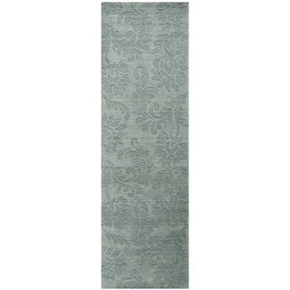 Hand-loomed Uptown Grey Wool Solid Runner Area Rug (2'6 x 8')