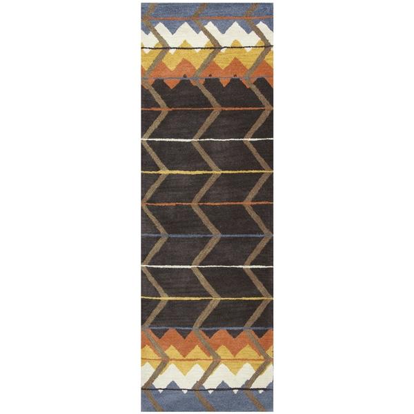 Hand-tufted Tumble Weed Loft Wool Southwest/ Tribal Runner Area Rug (2'6 x 8')