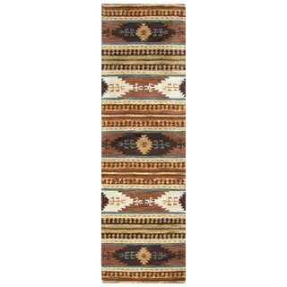 Hand-tufted Southwest Wool Southwest/ Tribal Runner Rug (2'6 x 8')