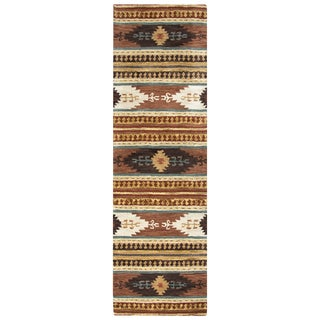 Hand-tufted Southwest Wool Southwest/ Tribal Runner Area Rug (2'6 x 8')