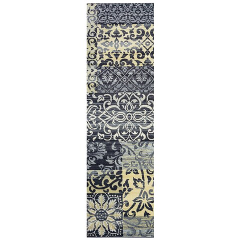 "Sorrento Patchwork Runner Area Rug (2'3 x 7'7) - 2'3"" x 7'7"""